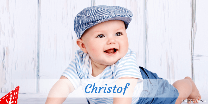 Name Christof als Bild