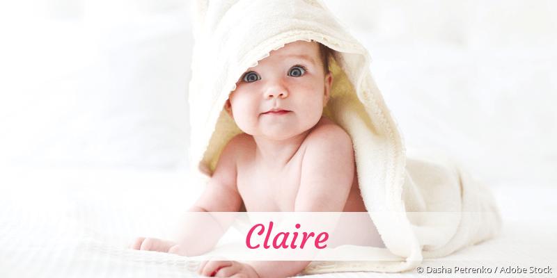 Name Claire als Bild