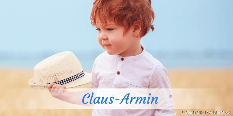 Name Claus-Armin als Bild