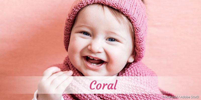Name Coral als Bild
