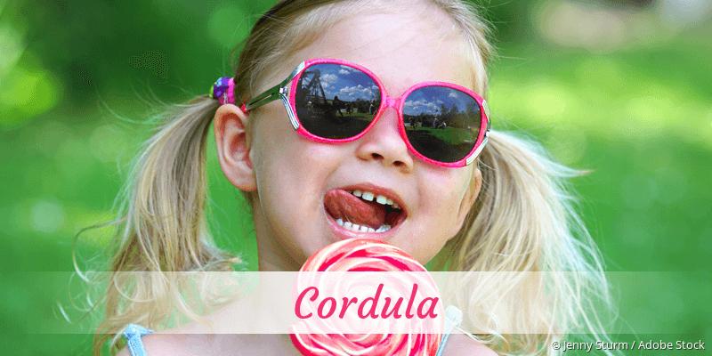 Name Cordula als Bild
