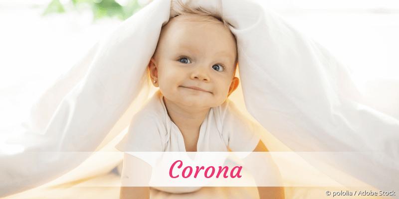 Name Corona als Bild