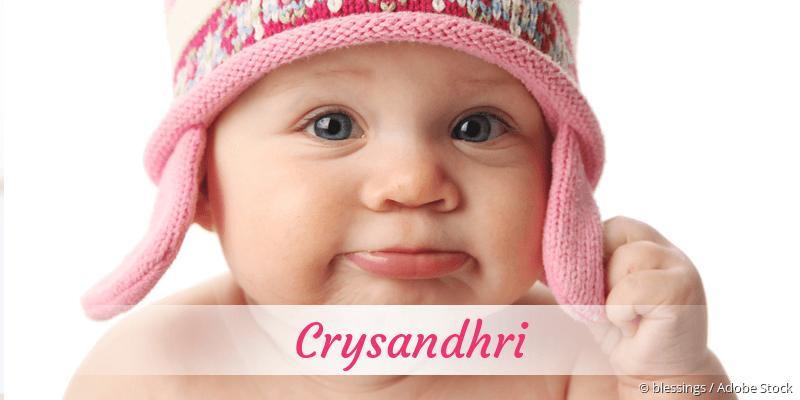 Name Crysandhri als Bild