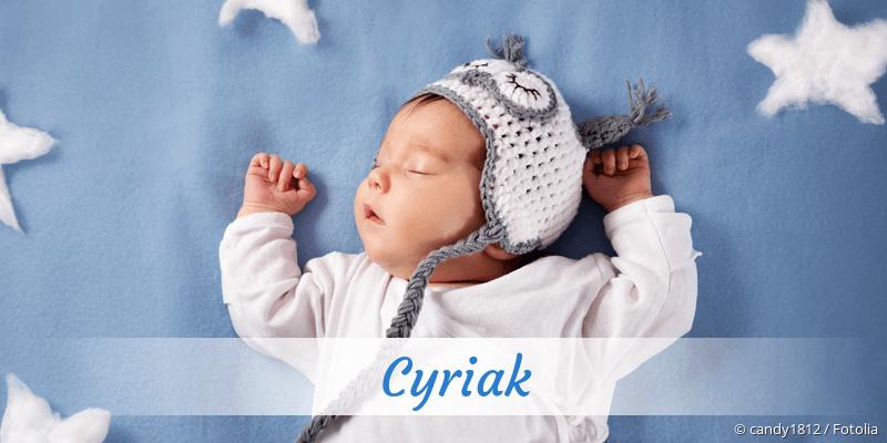Name Cyriak als Bild