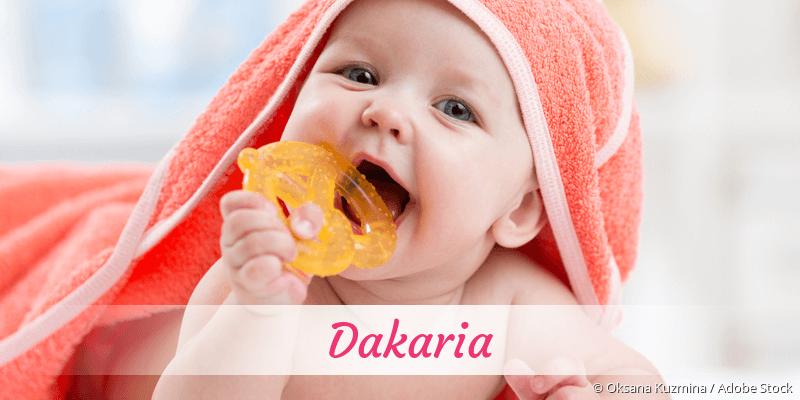 Name Dakaria als Bild