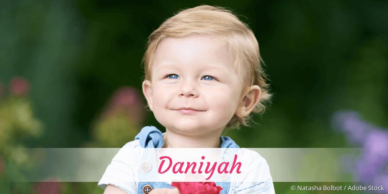 Name Daniyah als Bild