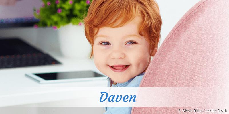 Name Daven als Bild