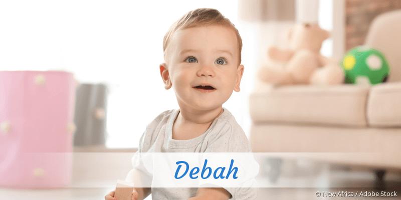 Name Debah als Bild