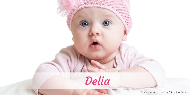 Name Delia als Bild
