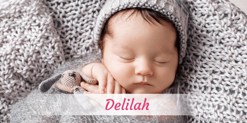 Name Delilah als Bild
