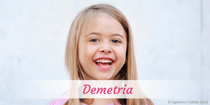 Name Demetria als Bild