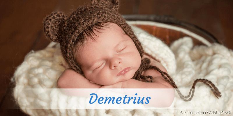 Name Demetrius als Bild