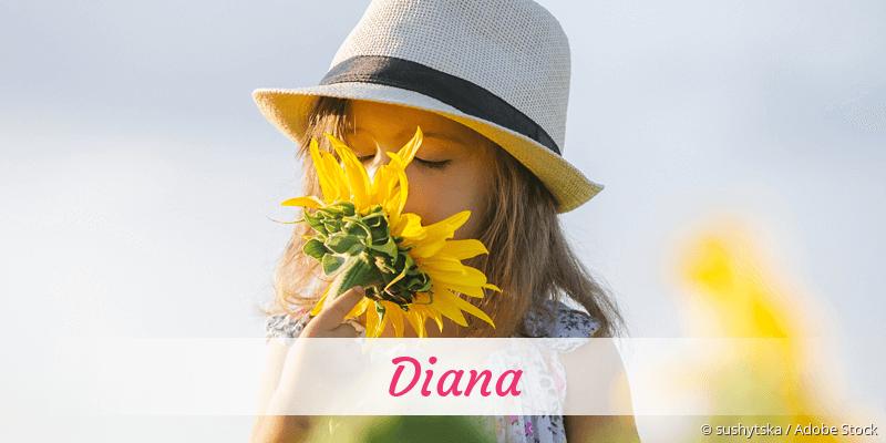 Name Diana als Bild