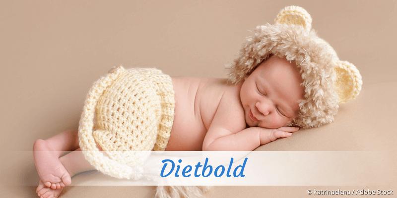 Name Dietbold als Bild