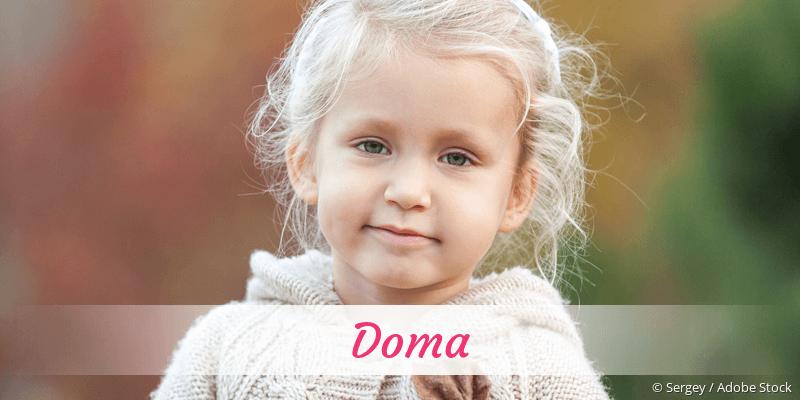 Name Doma als Bild