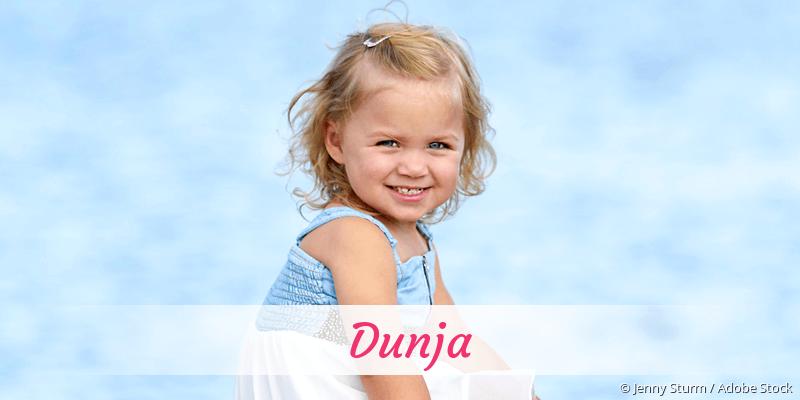 Name Dunja als Bild