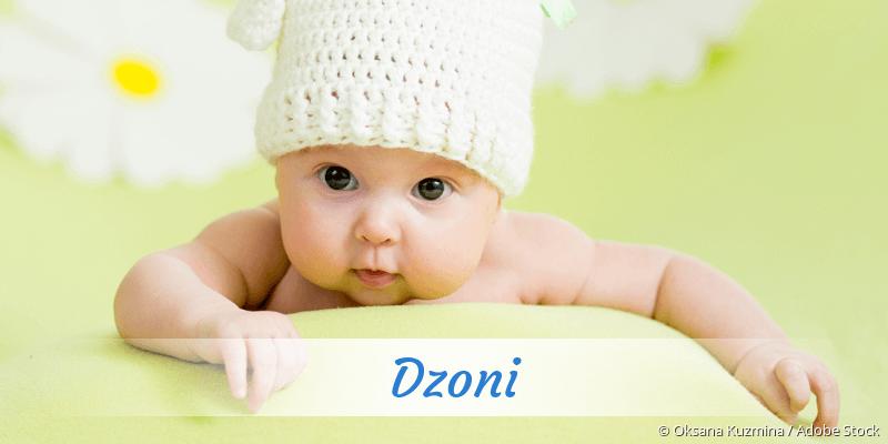 Name Dzoni als Bild