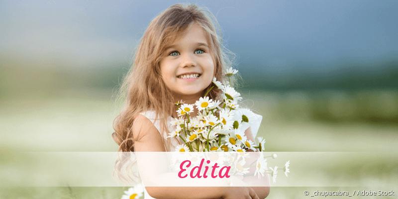 Name Edita als Bild