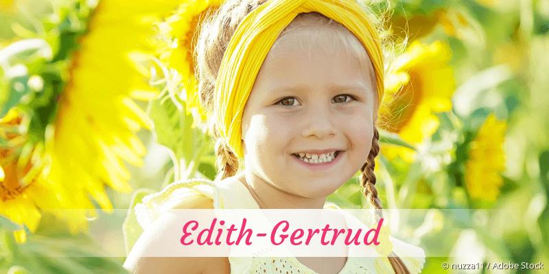 Name Edith-Gertrud als Bild