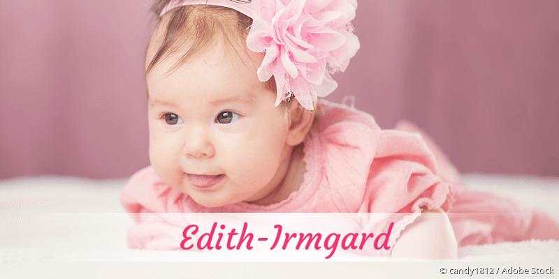Name Edith-Irmgard als Bild