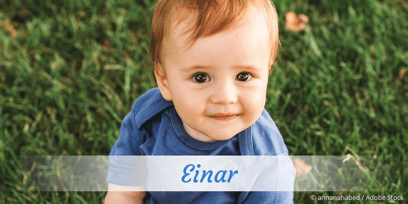 Name Einar als Bild