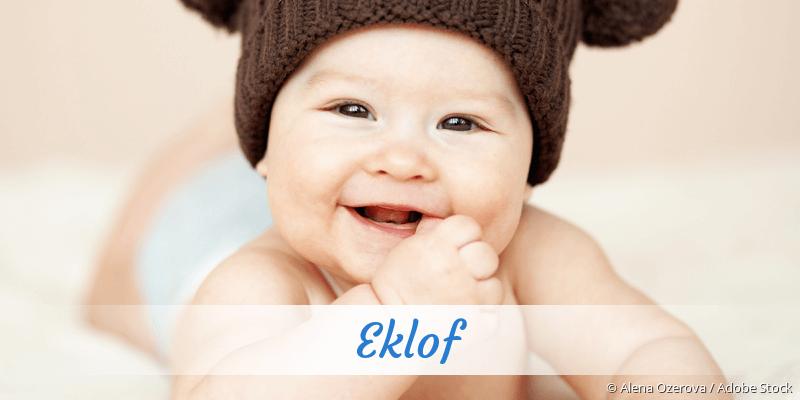 Name Eklof als Bild