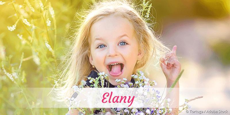 Name Elany als Bild