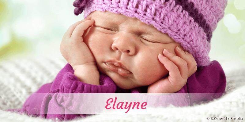 Name Elayne als Bild