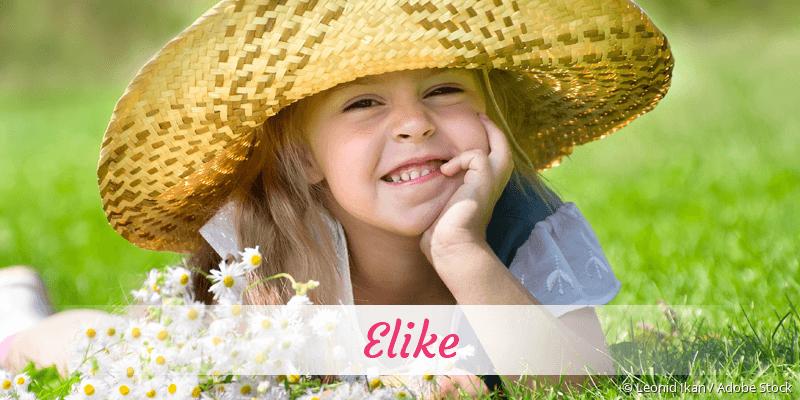 Name Elike als Bild