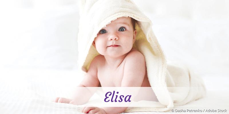 Name Elisa als Bild