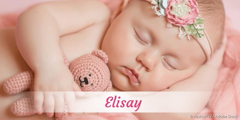 Name Elisay als Bild
