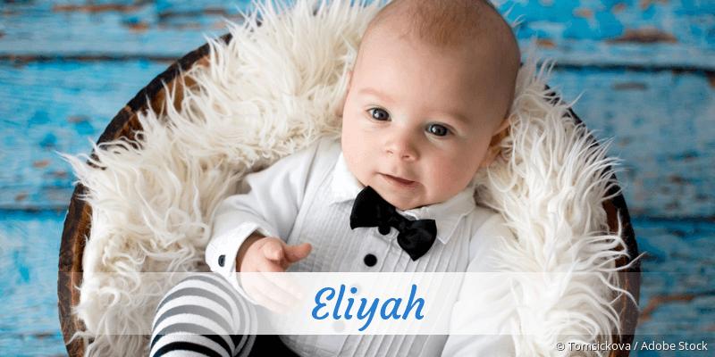 Name Eliyah als Bild