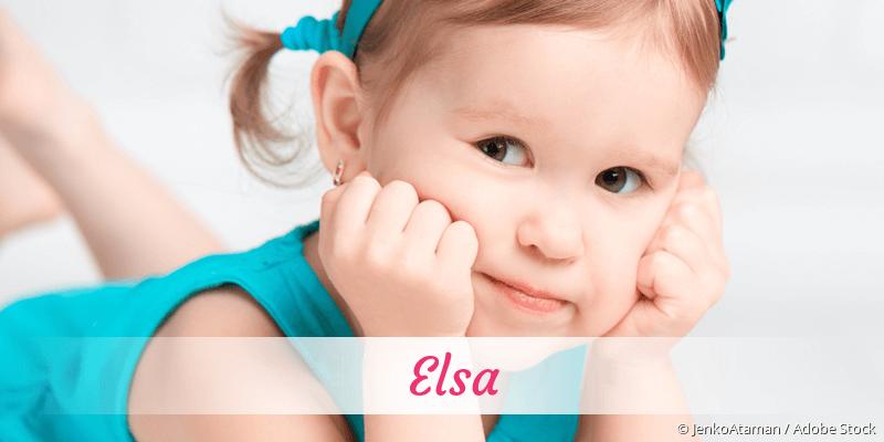 Name Elsa als Bild