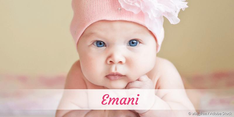 Name Emani als Bild