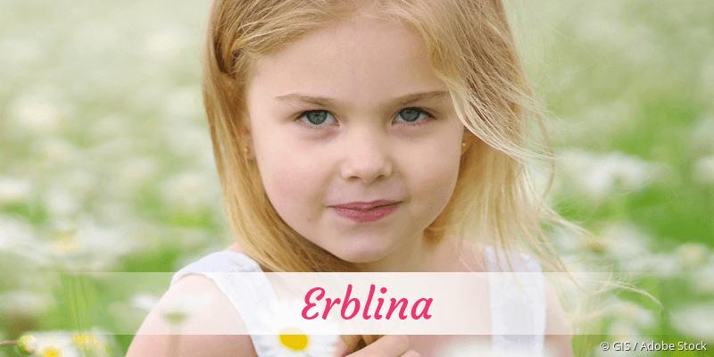 Name Erblina als Bild