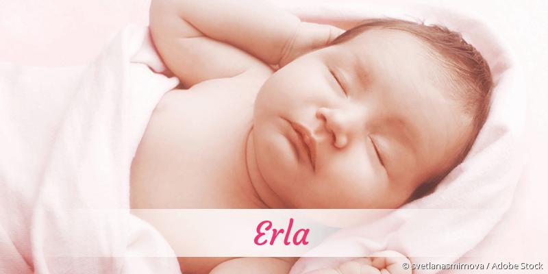 Name Erla als Bild