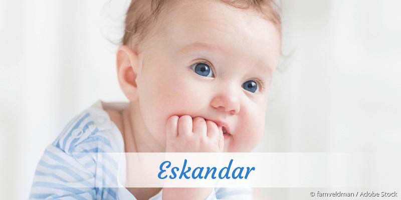 Name Eskandar als Bild