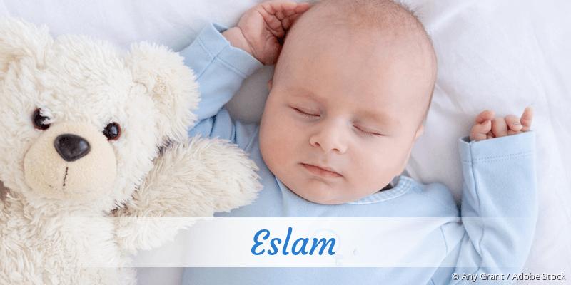 Name Eslam als Bild