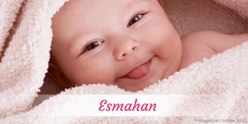 Name Esmahan als Bild