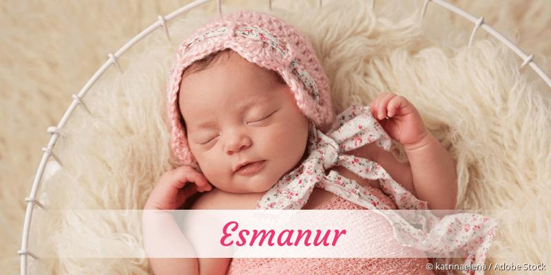 Name Esmanur als Bild