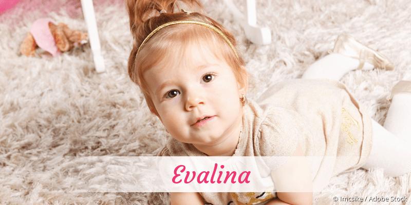 Name Evalina als Bild