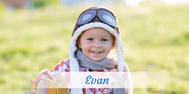 Name Evan als Bild