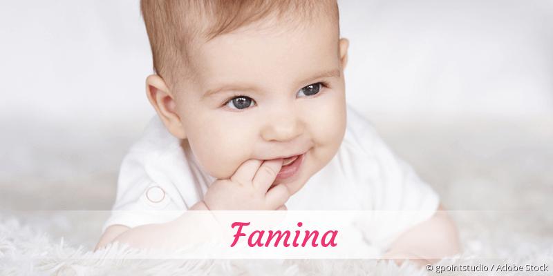 Name Famina als Bild