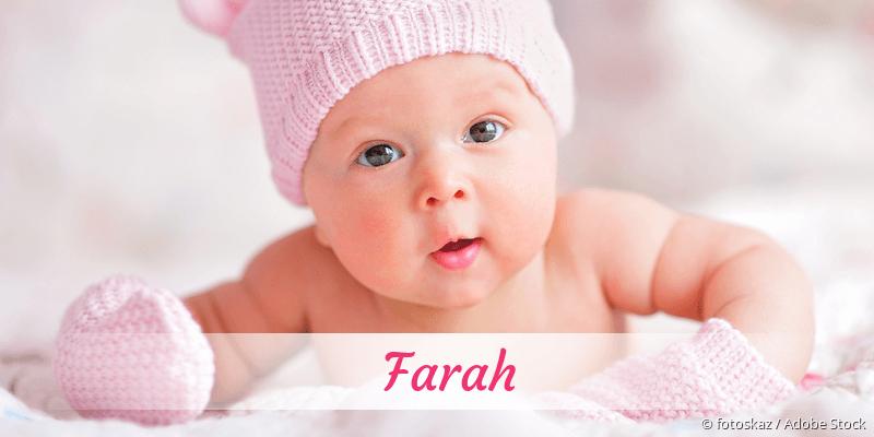 Name Farah als Bild