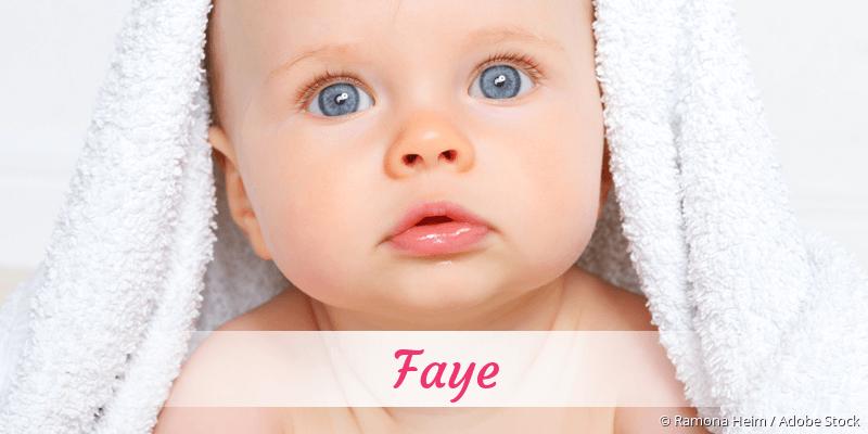Name Faye als Bild