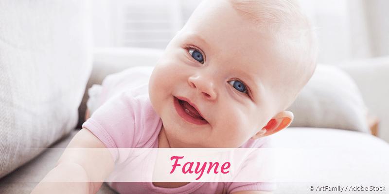 Name Fayne als Bild