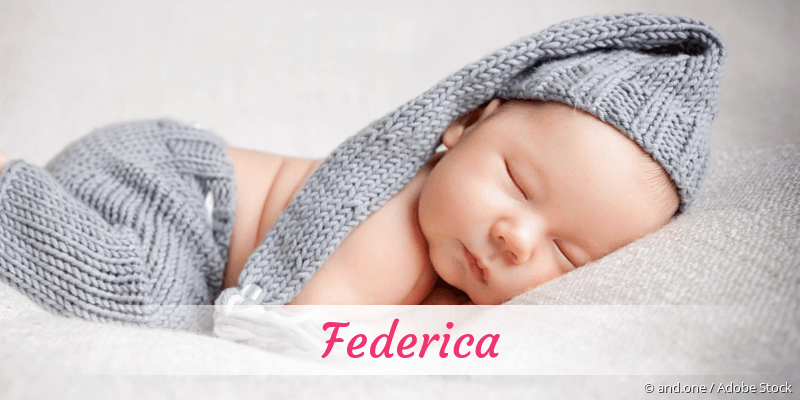 Name Federica als Bild