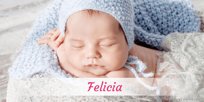 Name Felicia als Bild