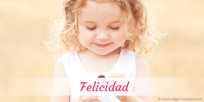 Name Felicidad als Bild