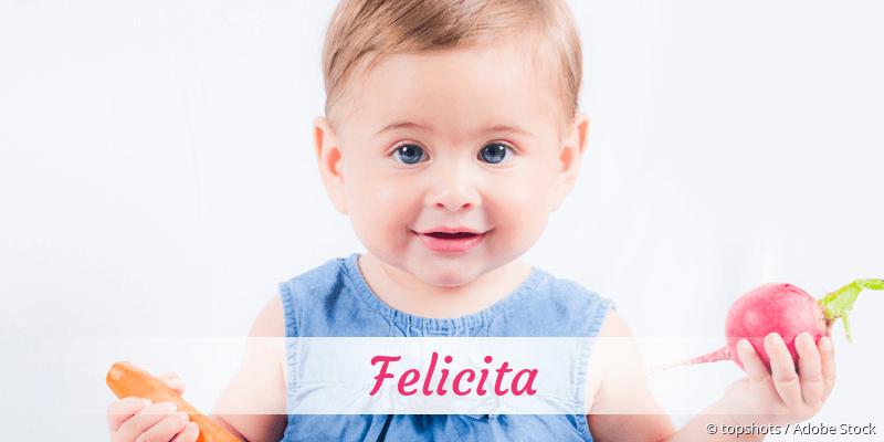 Name Felicita als Bild